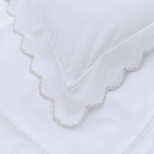 Palermo Bed Linen Collection - 200 TC - Cotton - White/Gold