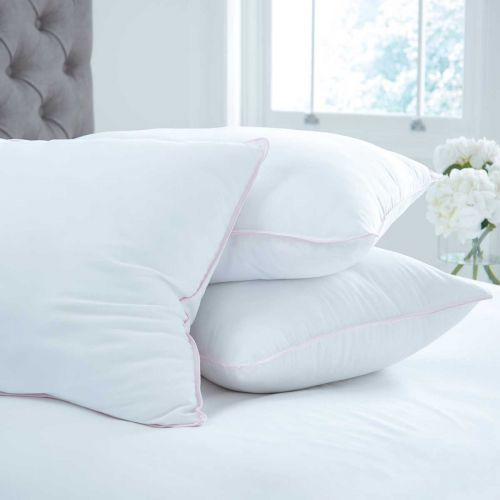 Pair of Feels Like Down Pillows - Firm Support
