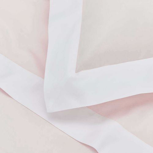 Positano Bed Linen Collection - 400 TC - Cotton - Pink/White