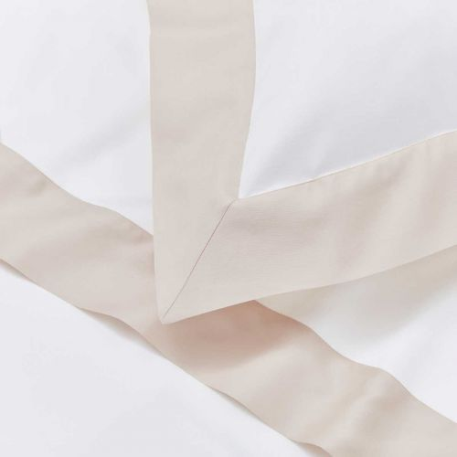 Positano Bed Linen Collection - 400 Thread Count - White/Natural