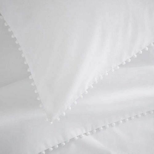Girona Duvet Cover - 200 TC - Cotton - White