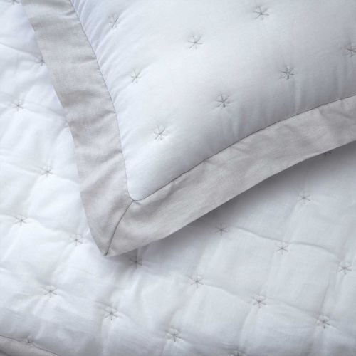 Starlet Throw 1.5m x 2m  - White/Grey