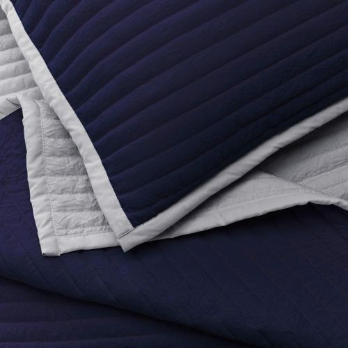 Twilight Bedspread 2.5m x 2.6m - Navy Blue/Grey