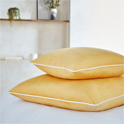 Luxury Velvet Cushion Cover - Mustard
