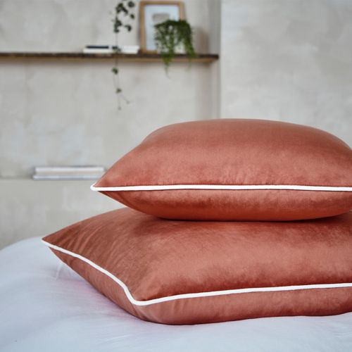 Luxury Velvet Cushion Cover - Terracotta
