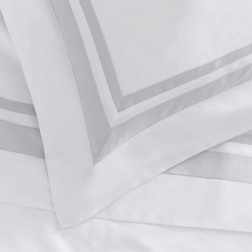 Venice Duvet Cover - 400 Thread Count - White/Grey