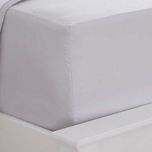 400 Thread Count Sateen Deep Fitted Sheet - Grey