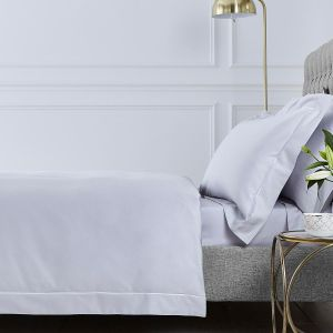 Henley Duvet Cover - 400 Thread Count - Grey/White