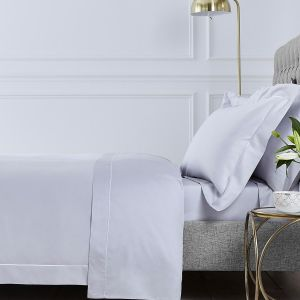 Henley Bed Linen Collection - 400 TC - Cotton - Grey/White
