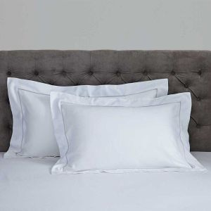 Pair of Mayfair Oxford Pillowcases - 400 Thread Count - Grey