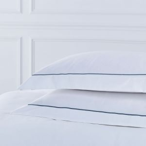 Pair of Mayfair Oxford Pillowcases - 400 TC -Egyptian Cotton -  Navy
