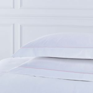 Pair of Mayfair Oxford Pillowcases - 400 TC - Cotton - Pink