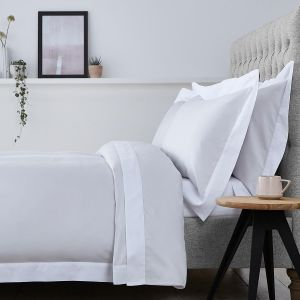 Positano Bed Linen Collection - 400 Thread Count - Grey/White