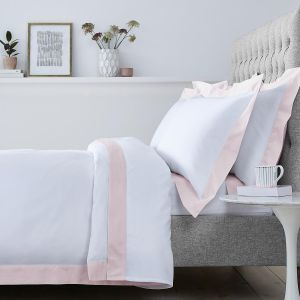 Positano Bed Linen Collection - 400 TC - Cotton - White/Pink