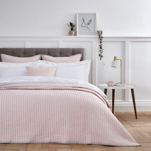 Twilight Bedspread 2.5m x 2.6m - Pink/Grey