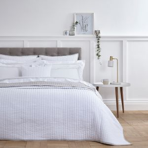 Twilight Bedspread 2.5m x 2.6m - White/Grey