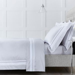 Venice Bed Linen Collection - 400 TC - Cotton -Grey/White