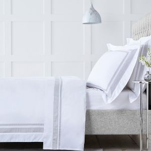 Venice Bed Linen Collection - 400 TC - Cotton - White/Grey