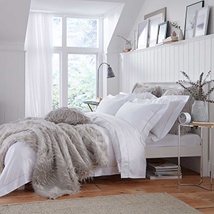 Helsinki Faux Fur Throw 1.5m x 1.8m - Grey